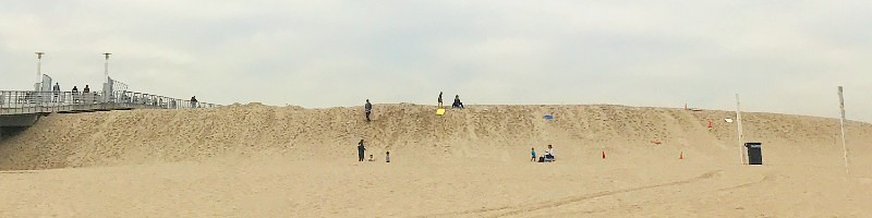 Sand Sledding in Hermosa